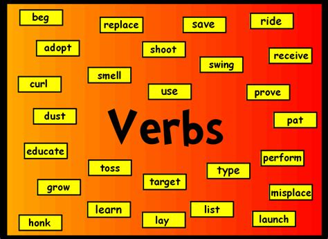 Verbs  English With The Star