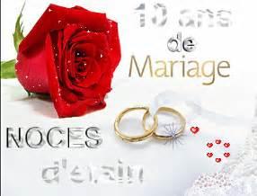 10ans de mariage message d 39 amour et d 39 amitié et carte anniversaire de mariage