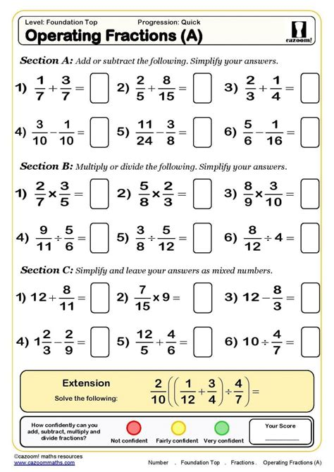 Grade Year 7 Fractions Worksheets Picture Kindergarten Fraction Pdf Fifth Math Thin