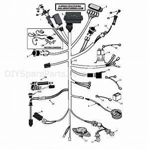 Countax C Series Honda Lawn Tractor 2008  2008  Parts Diagram  Mk3 Dial Height Wiring Loom