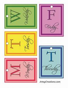 cute labels to help coordinate outfits for the week pick With cute clothing tags