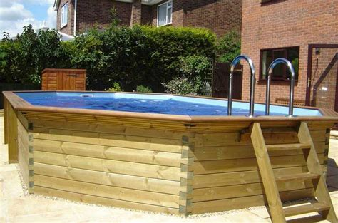 diy  ground pool stairs wood google search pool