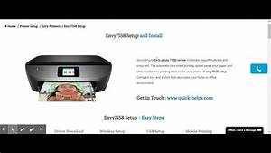 Hp Envy 7158 First Time Printer Setup