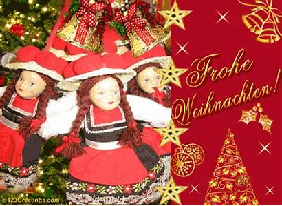 German Christmas Greeting Greetings Cards Wishes Card
