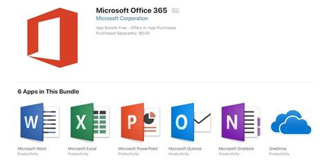Office Apps by Microsoft S Office 365 Apps Are Available In The Apple Mac