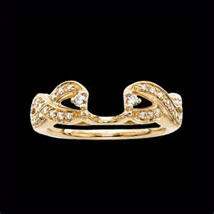 ring guards for wedding bands 14k gold ribbon design ring guard