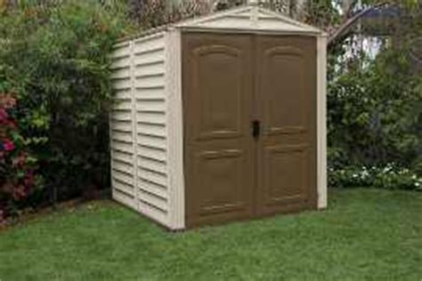 6x6 Vinyl Storage Sheds by Duramax 6x6 Storemate Vinyl Shed With Floor 30411 Free