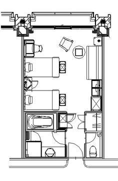 Standard hotel room layouts (like at the Marriott) | Home