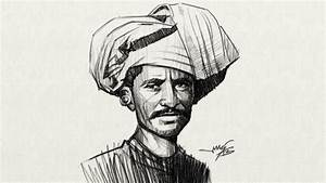 Speed drawing Indian farmer - YouTube