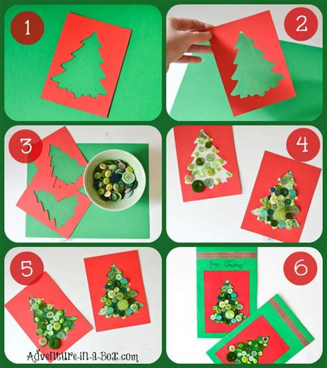 Miss eight can easily sit and make a whole collection of these in one sitting, making it an easy christmas craft for. Making Christmas Cards with Toddlers