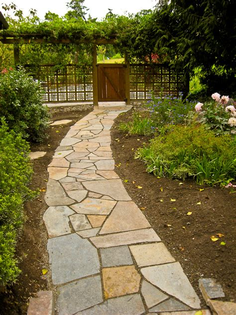 flagstone walkway shepherd stoneworks of seattle fireplaces and fire pits