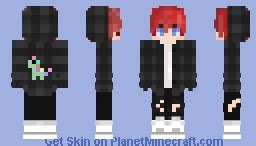 punk boy  red hair minecraft skin