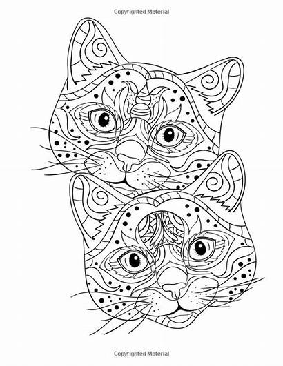 Coloring Creative Fancy Cats Pages Cat Adult