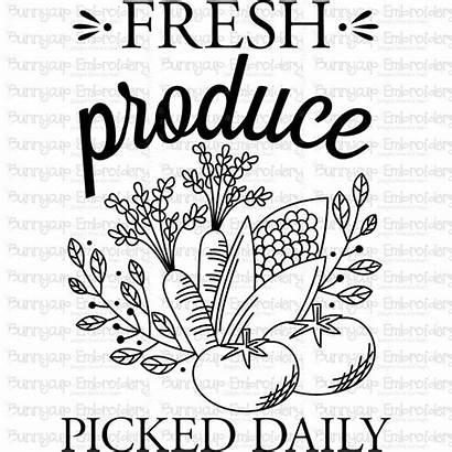 Farmhouse Svg Fresh Produce Clipart Printable Cart