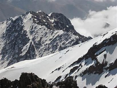 Mountains Snow Atlas Africa Morocco Toubkal Peak
