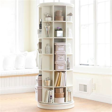 Rotating Bookcase Ikea by Revolving Bookcase Pottery Barn