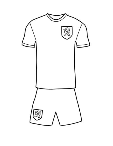 Kleurplaat Shirt by Nederlands Voetbal Tenue Voetbal Kleurenisleuk Nl