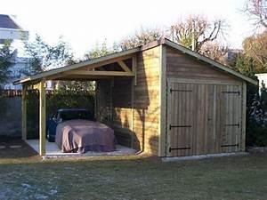 garage anjou avec appentis 3 m x 550 m en bois gamme With modele de jardin moderne 6 accueil cabanon 2000
