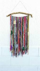 Bohemian decor boho garland wall hanging wall tapestry yarn for Boho wall decor