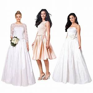 Brudklänning kjol