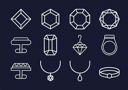 Vector Icon Jewelry Collections Clipart Diamond Font