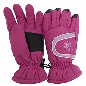 Ladies Womens Thermal Warm Waterproof Winter Ski Gloves ...