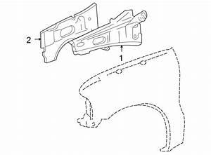 Ford F-250 Super Duty Fender Rail  Upper   Inner  Right  Assembly