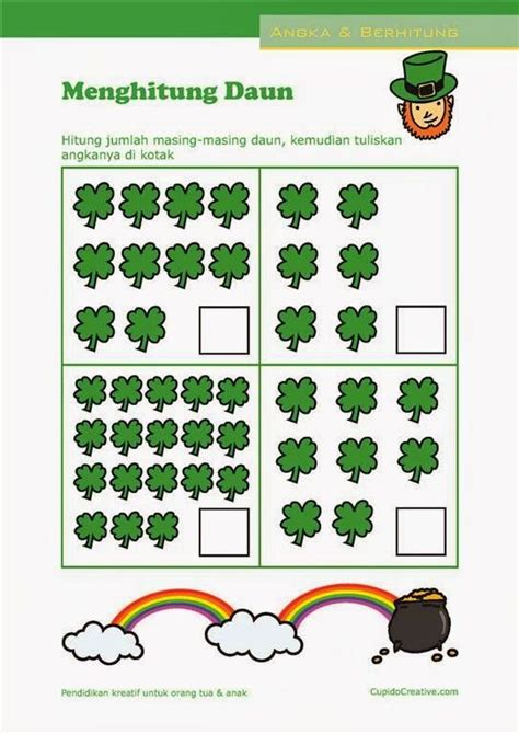 belajar hitung angka   lembar latihan matematika  anak paudtkbalita school kids