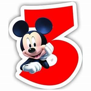 Mickey Mouse Geburtstag : bougie mickey 3 ans ~ Orissabook.com Haus und Dekorationen