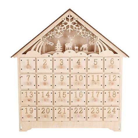 linea woodland charm wooden advent calendar winter