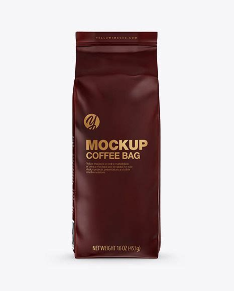 Placeit has a great catalog of drinkware mockups that you can use to showcase your store's logo. Download Matte Coffee Bag Mockup Front View... | Bag ...