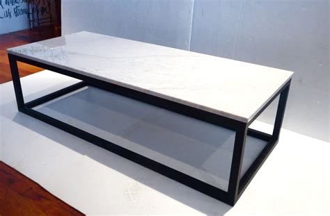 granite coffee table base 1970s rectangle coffee table marble and square tube metal