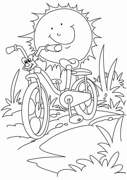 Coloring Pages Summer Sun Printable