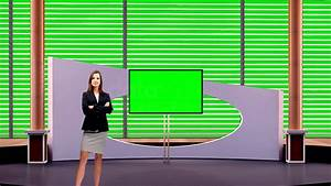 Talkshow 019 TV Studio Set-Virtual Green Screen Background ...