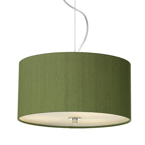 dupion silk drum shade olive green imperial lighting