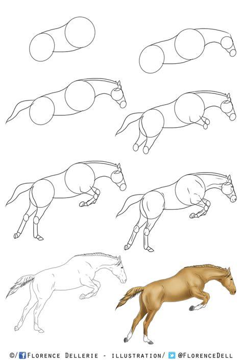 apprendre 224 dessiner les chevaux tutoriel le 224 dessins de flo