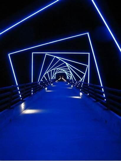 Lighting Neon Lights Tunnel Installation
