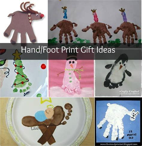 Christmas Crafts Hand And Foot Print Homemade Ts