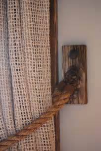 Make Your Own Living Room Curtains by Rope Curtain Tieback Hemp Hardware From Italy Clavos