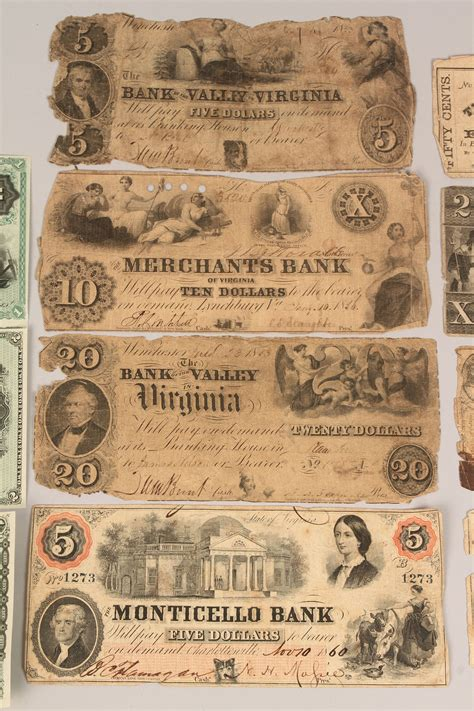 lot  collection  southern obsolete currency