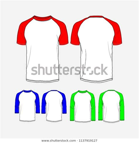 The hoodie mockup has the front and back spaces available for placing any graphics. T Shirt Raglan Mockup Vector Stock Vector (Royalty Free ...
