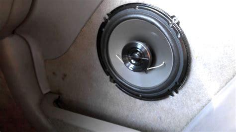 6 5 inch door speakers installing custom 6 5 inch speakers in door panel part 1