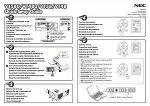 Download Free Pdf For Nec Vt48 Projector Manual
