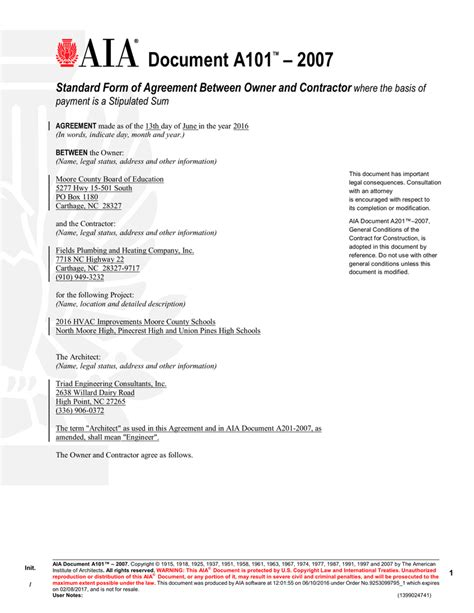 document  agreement  owner  contractor