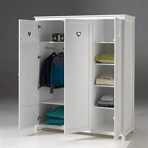 Armoire Bois Blanc : armoire chambre bois blanc pr l vement d 39 chantillons et une bonne id e de ~ Teatrodelosmanantiales.com Idées de Décoration