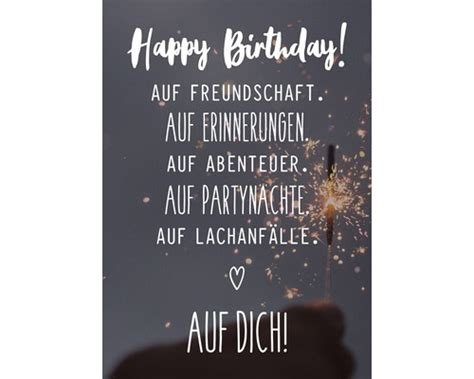 postkarte happy birthday auf freundschaft  cm