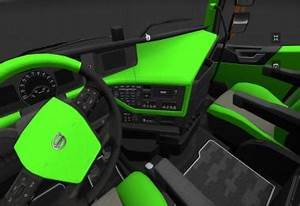 Volvo FH16 2012 Lime green and Black Interior Modhub