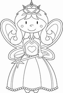 Princess Color Pages For Kids - Coloring Home