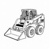 Coloring Plow Bobcat Snow Pages Truck Clipart Skid Equipment Loader Printable Monster Trucks Skidsteer Steer Tractor Construction Drawing Clip Sketch sketch template