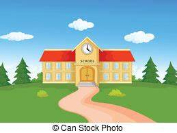 Middle school building Vector Clipart Illustrations. 96 ...